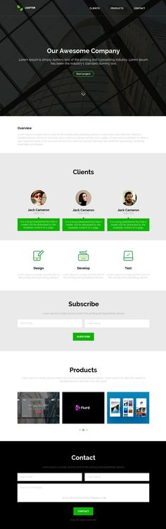 Leafter is a one page #muse template for #IT companies. It has a nice design and it is easy to customize. #website
