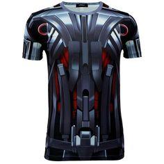 Men Summer Short Sleeve T-shirt Marvel DC Comics The age of Ultron Cosplay Tops #OWN #BasicTee