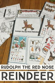 Rudolph the Red Nose Reindeer: Circle Time Song differentiated Reindeer Noses, Red Nosed Reindeer, Fashion Song, Circle Time Songs, Conversation Cards, Simple Sentences, English Language Learners, Rudolph The Red