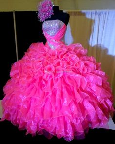 Wonderful A Line Hot Pink Detachable Quinceanera Dress with ...