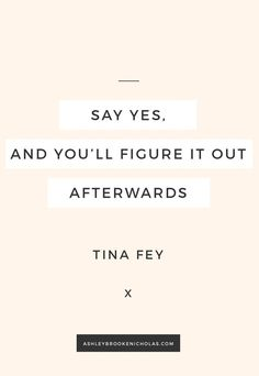 Yep, Tina Fey is definitely a genius. If you'd like to read more inspiration…