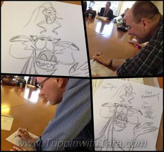 The Bancroft Brothers sign an orginal sketch