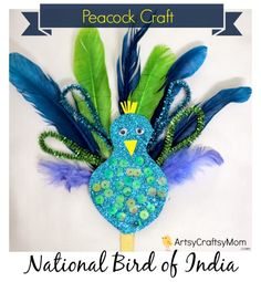 Itsy Bitsy - The Blog place: Peacock Craft - guest post by ArtsyCraftsyMom