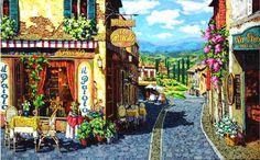 Léto v Toskánsku. Summer in Tuscany.