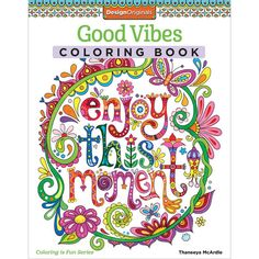 Good Vibes Coloring Book Design Originals Coloring by iluvdesign
