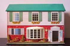 d it to your favorites to revisit it later.                                                                                                        Vintage 1960's Metal Two-Story Dollhouse by Wolverine Company      From LuLuVintageFinds
