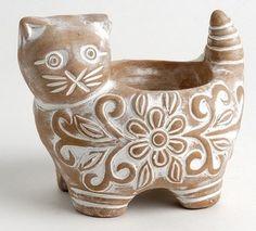Altromercato - Portacandela 'gattino' in terracotta