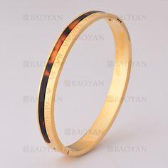 pulsera de numero roma en acero dorado inoxidable -SSBTG405570