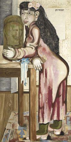 Judith mit dem Haupt des Holofernes, 1927-28 by Jankel Adler (Polish 1895 - 1949)....painted in Dusseldorf...