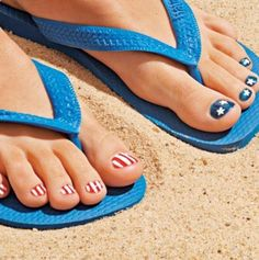 Fourth of July toes