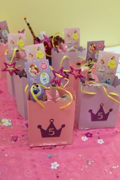 Cricut Princess Party Ideas | Mom put her Cricut to work and helped me cut out the goodie bags and ...