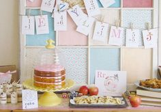 Une baby Shower scolaire   #Babyshower #baby #mumtobe #momtobe #party #partydecorations