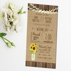 Nice 12 Wedding Invitations With Sunflowers Check More At Jharlowweddingplanning