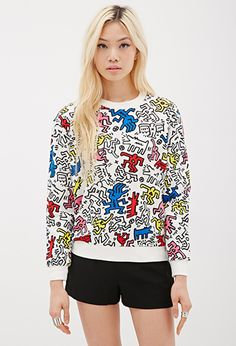 Keith Haring Print Sweatshirt   FOREVER21 - 2052287940