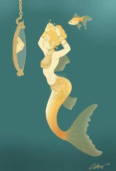 Goldfish Mermaid by Calerie