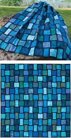 Blue Moon pattern   90 x 96  alternates 2 simple blocks  Janine Burke