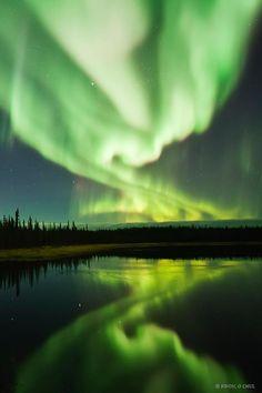 Aurora Borealis photographed by Kwon O Chul near Yellowknife in northern Canada
