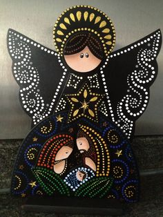 16 New Decor Painting İn Home - Nativity Crafts, Christmas Nativity, Christmas Art, Christmas Projects, All Things Christmas, Christmas Decorations, Christmas Ornaments, Arte Country, Pintura Country