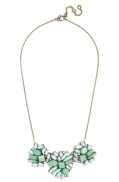This collar necklace from BaubleBar hits all the right notes with the beautiful turquoise hues and sparkly pieces.