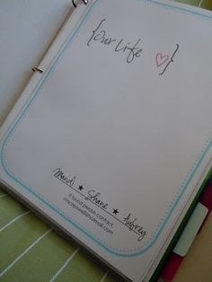 home management binder ideas