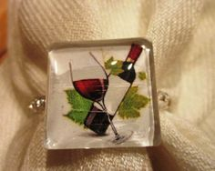 Wine Glass Scarf Ring by BeadsbyJanie on Etsy, $9.00