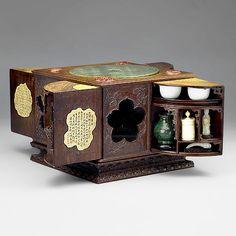 Square Sandalwood Curio Box (with 30 curios inside)