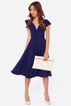 LULUS Exclusive Skirts So Good Royal Blue Midi Dress at LuLus.com!