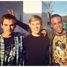 Dylan Sprayberry, Mason Dye and Khylin Rhambo on the set of Teen Wolf Season 4!