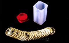Tube of 20 American Gold Eagle Coins Bullion Coins, Gold Bullion, Gold Eagle Coins, Gold Coins, Where To Buy Gold, Gold Value, Gold American Eagle, Coins For Sale, Troy