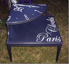 Clock Face Table @ My Painted stuff
