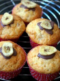 Saftige, fluffige Bananen-Muffins