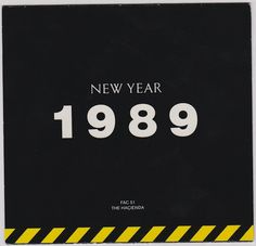 FAC 51 The Hacienda Christmas / New Year 1988 / 1989 flyer Factory Records, Acid House, All About Music, Joy Division, The Old Days, Christmas And New Year, Flyers, Manchester, Rave