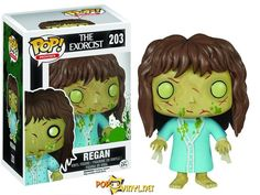 Funko Getting Their Split Pea Soup On With 'Exorcist' Figure -  The toy shows Regan in her final possessed form, coated in green vomit, her skin a disgusting shade of chartreuse, her wrists still bearing the restraints that held her to the bed.
