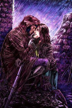 Gambit n Rogue color version by brokenluk.deviantart.com