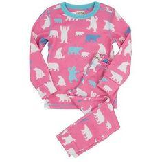 Bnwt hatley polar bear #girl's #fleece pyjamas new pink #thermal ski underwear pj,  View more on the LINK: http://www.zeppy.io/product/gb/2/261680779356/