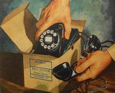 1940s BELL TELEPHONE COMPANY vintage advertisement illustration by Christian Montone, via Flickr