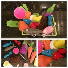 Viele bunte filz Gegenstände für den kaufladen - felt food - ♡♡♡