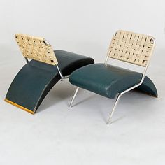 Pair of `Moroso` Leather Lounge Chairs, Italy, c1960   From a unique collection of antique and modern lounge chairs at http://www.1stdibs.com/furniture/seating/lounge-chairs/