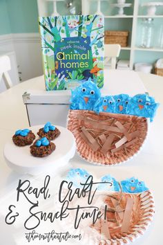 We used a favorite Usborne Book to inspire our craft and snack time! I love offering books that are on topics my kids are learning in school! Animal Homes! Preschool Activities At Home, Spring Activities, Toddler Activities, Activities For Kids, Crafts For Kids, Nursing Home Crafts, Animal Books, Animal House, Book Crafts