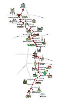 Ruta Romantica Alemania Recorrer la Ruta Romántica, lugares de interés turístico de y datos prácticos para recorrer la Ruta Romantica.