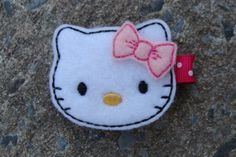 Hello Kitty Hair Clip by innavert on Etsy, $3.25