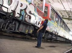 Video: One night to paint the whole train with graffiti for World Water Day message.