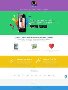 website design for colorUapp Website design #23 by ED Elegant Designs