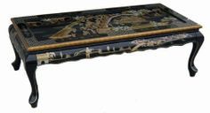"""Elegant Oriental Furniture Coffee Table w. Glass Top by Asian Home. $199.98. It comes with glass top for easy cleaning and maximum protection against scratch. """"Size: L48"""""""" x D22"""""""" x H16"""""""" Age: New Reproduction Type of Craft: Lacquered. Furniture is part of a convention concerning people's residence. Its design, manufacture and style reflect the spiritual outlook and aesthetic taste of a time. The Ming and Qing dynasties were the golden age of Chinese traditional..."""