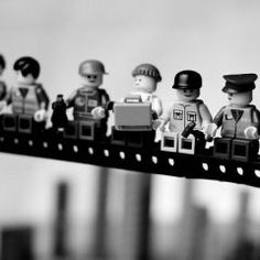 lego take on vintage construction photo for little boy room