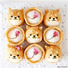 "Big success in regular rice and lunch! Enthusiasm for the cuteness of ""Deco Inari"" - Bento - Bento Ideas Cute Food, Yummy Food, Cute Snacks, Cute Bento Boxes, Japanese Food Art, Cute Baking, Kawaii Bento, Kawaii Dessert, Bento Recipes"