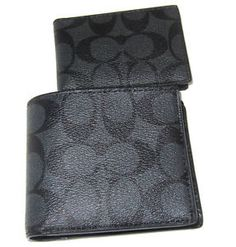 1ad6cdfa92ab Details about NEW Coach Signature Compact ID PVC Men Wallet Various Color  F74993 F74991 F27052