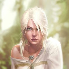 I usually draw the pin-ups with the whole scene in mind. But every now and then I'm fortunate that the face and expression works on their own. So in those cases I like to go the extra mile and add a new level of detail in order to make a portrait out Witcher Art, The Witcher, Ciri Witcher, Daena Targaryen, Fantasy Characters, Female Characters, Character Concept, Character Art, Concept Art