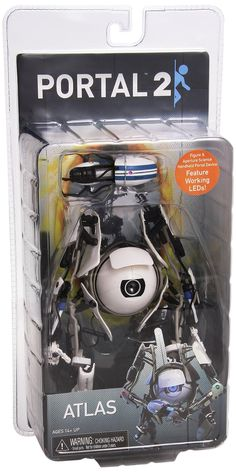 Amazon.com: Portal 2 - 7″ Atlas Deluxe Action Figure with LED Lights: Toys & Games