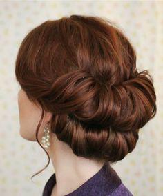 Mahagoni Haarfarbe Haare hochstecken